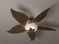 ceiling fan tropical 3d model
