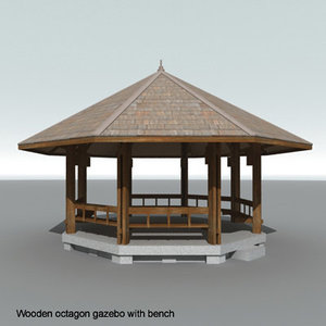 maya wooden octagon gazebo
