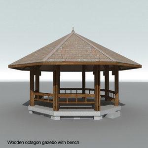maya wooden octagon gazebo