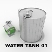 water tank 01 3d model