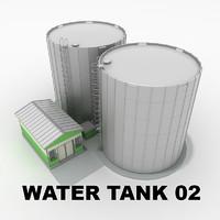 3d model water tank 02