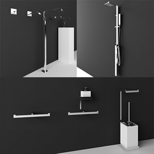 gessi bathroom taps 3d model