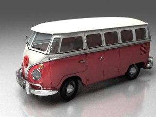 3ds max 1967 v w westfalia