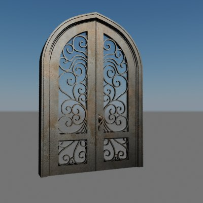 3ds max metallic door houses