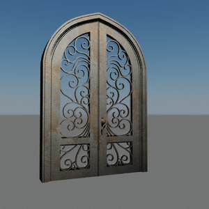 3ds max metallic door houses