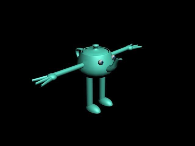 free max model teapod character rigged