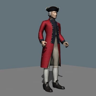 3d model royal marines officer dress