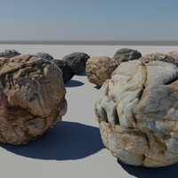 boulders stone 6foot 3d model