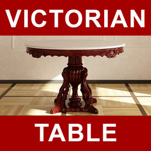 victorian table dinning 3d model