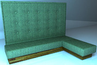restaurant banquette 3d model