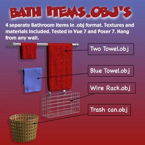 bath items 3d model