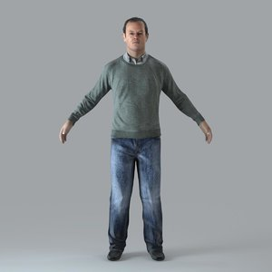 3d ma axyz character human