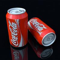cans cola 3d model
