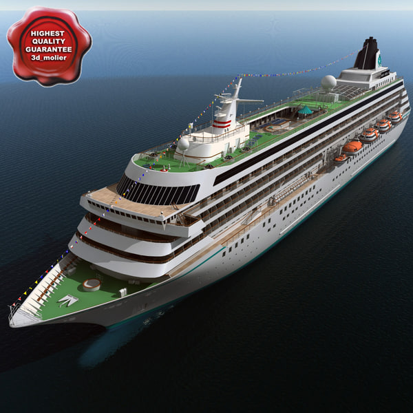 cruise ship crystal symphony 3d model