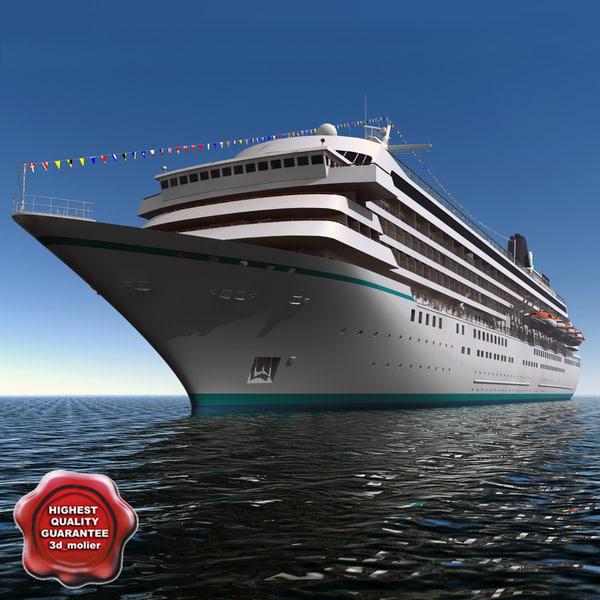 cruise ship crystal symphony 3d model
