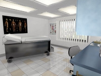 doctor exam room office 3d model