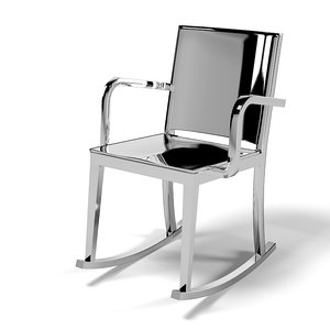 emeco hudson rockin armchair 3d model