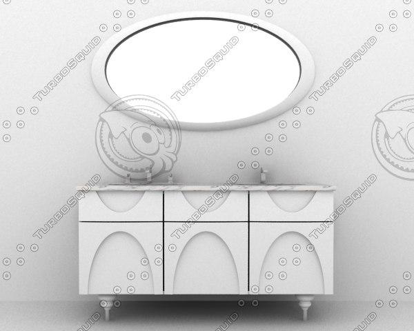 3d furniture bathroom