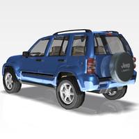 3ds max car jeep liberty