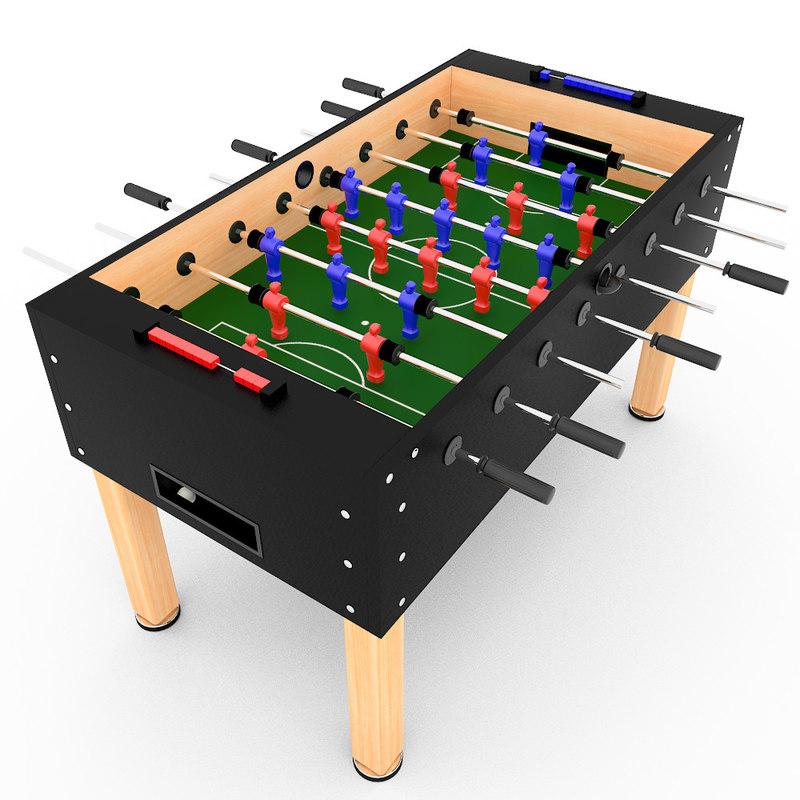 tabletop soccer 3d model