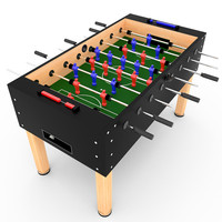 tabletop soccer 3d model