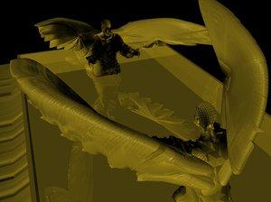 ark bible gold 3d model