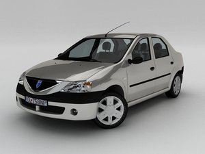 dacia renault logan 3d model