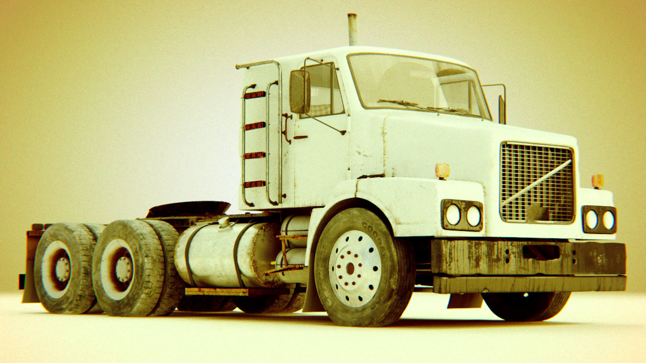 3d obj 80s truck wheel