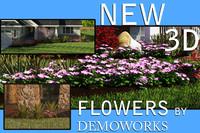 flower landscaping 3d model
