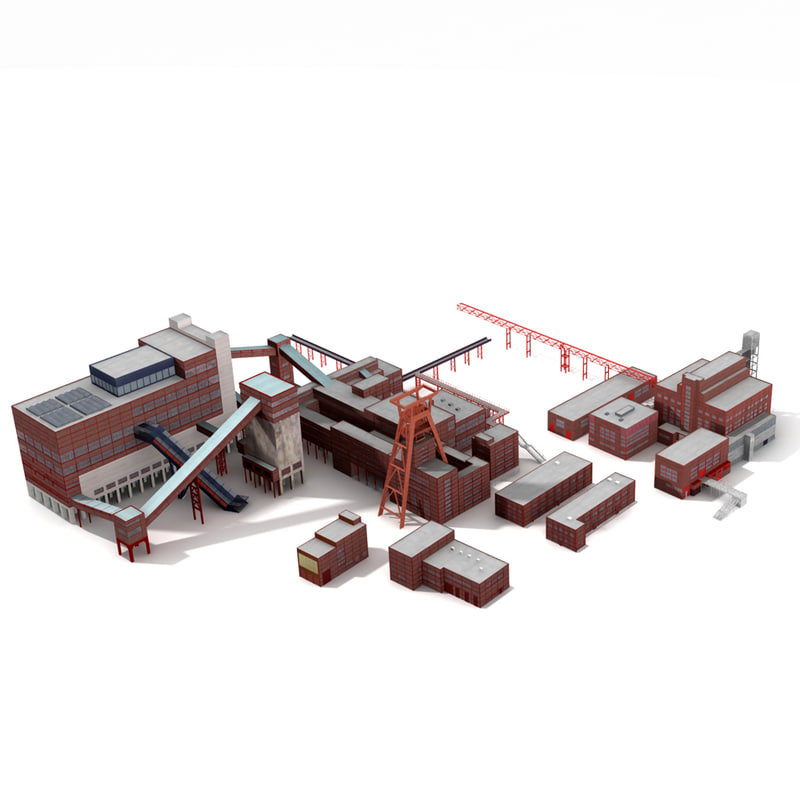 zollverein germany europe 3d model