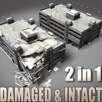 Intact_Destroyed_Parking Garage