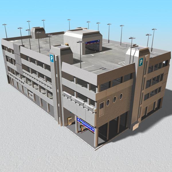3ds max parking garage architecture building