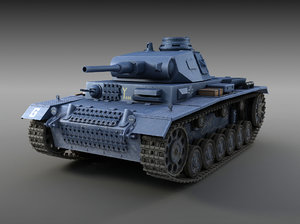 german tank panzer iii 3d model