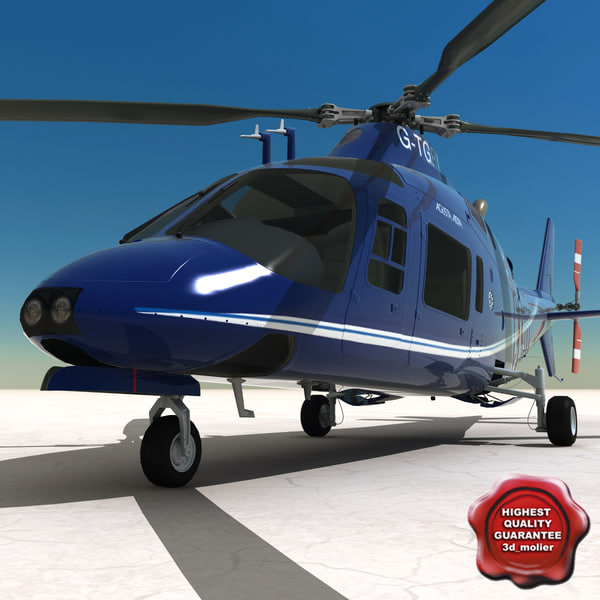 private helicopter agusta a109a 3d 3ds