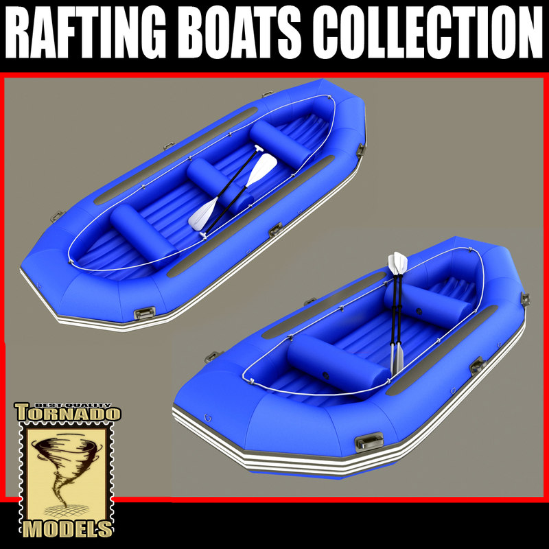 rafting boats 3d max