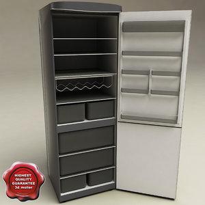 refrigerator ariston v2 3d model