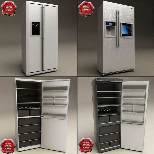 refrigerators v2 3d model