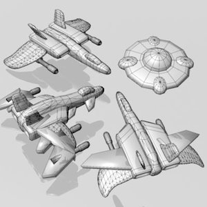 3ds max space shooter object
