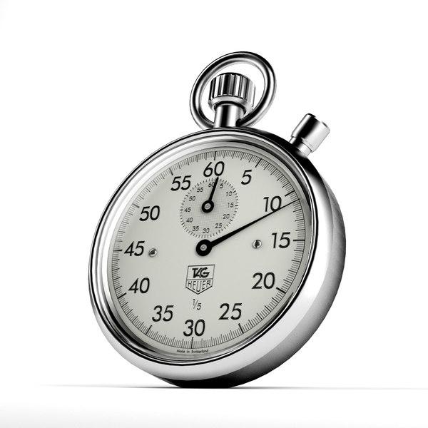 stopwatch numbers 3d model