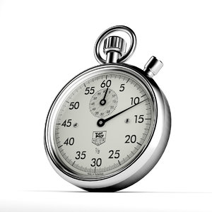 stopwatch numbers 3d model