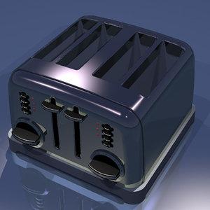 3d toaster kitchen household