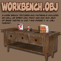 workbench work 3d model