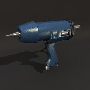 glue pistol 3d obj