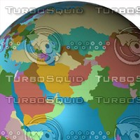 politic globe 2010 3d max
