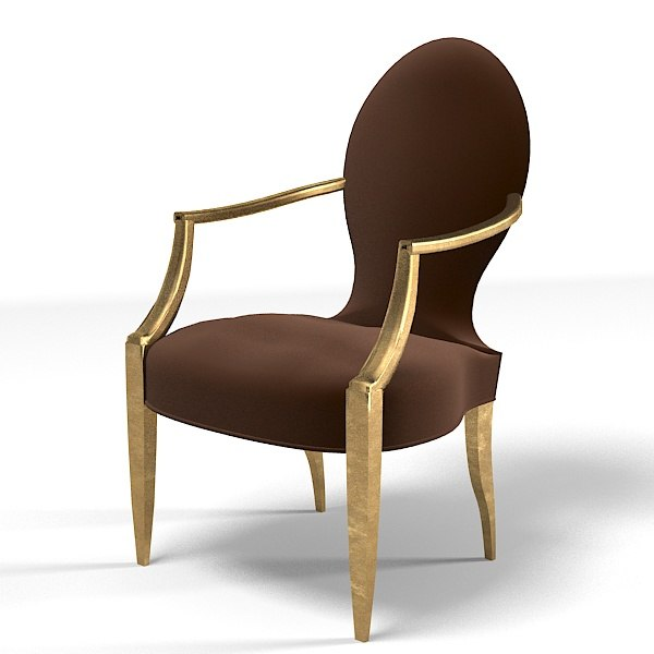 donghia chair modern 3d model
