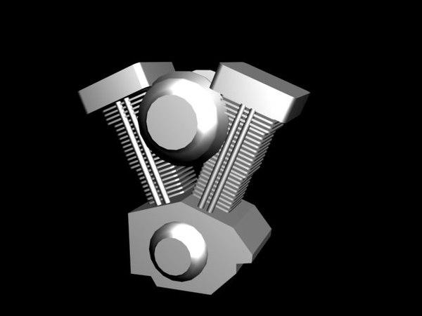 free engine v twin 3d model
