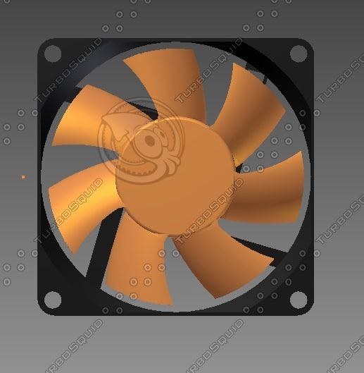 3d pc case fan model