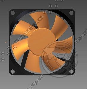 3d pc case fan model