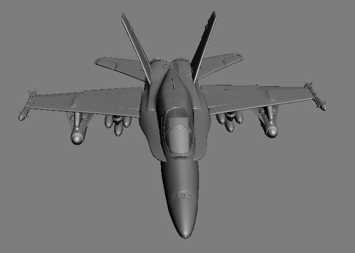 maya f18 airplane fighter