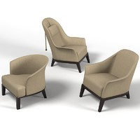 giorgetti chair armchair 3d 3ds